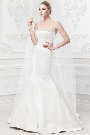 Truly Zac Posen Wedding Dress with Pearl Details - Davids Bridal