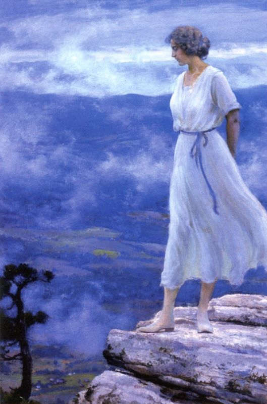 The Athenaeum - The Hilltop (Charles Courtney Curran - ):
