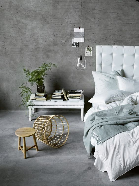 The lastest Tine K home collection SS2015 is beautifully styled against a back drop of concrete and brought to life with simple greens.