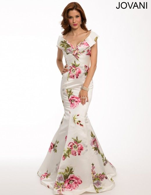 Elegant Ivory Floral Prom Dress 2015 | Dresses | Pinterest ...