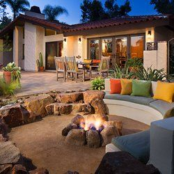 concrete seating patio and crushed granite austin - Google Search