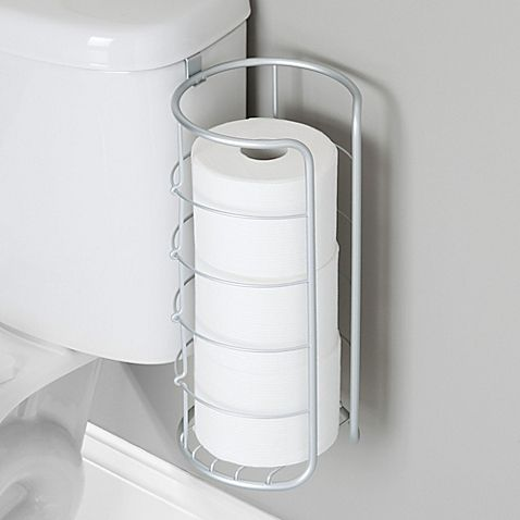 Interdesign Over The Tank Multiple Toilet Paper Roll Holder In Silver Toilet Paper Roll Holder Paper Roll Holders Toilet Paper