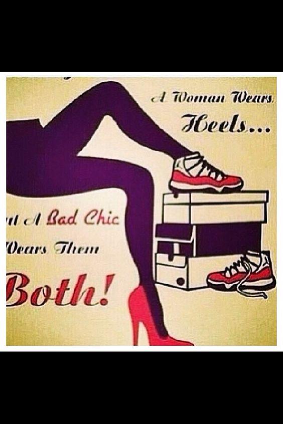 heels and jordans quote