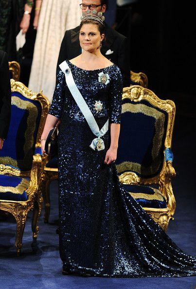 2011 - Crown Princess Victoria of Sweden attends the Nobel Prize Award Ceremony at Stockholm Concert Hall on December 10, 2011 in Stockholm, Sweden.
