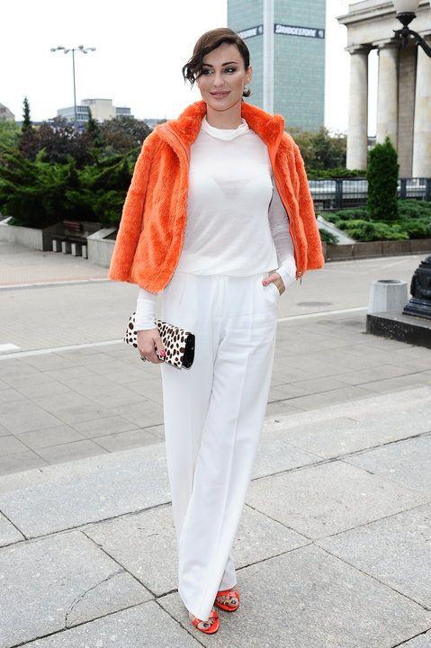 białe spodnie , biała bluzka ,