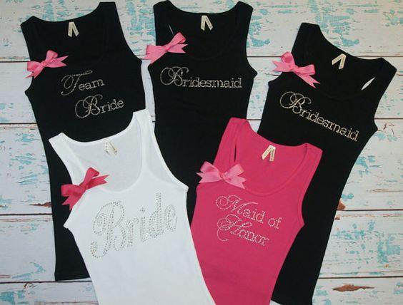 Camisas de damas de honor. 5. Dama camisas. por sparklyweddingshop