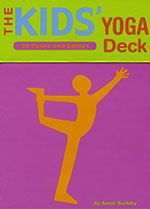 Kids' Yoga Deck by Annie Buckley:  Get kids bending, breathing, and stretching!  Engaging and fun, yet easy enough for children to do on their own.  Set of 50 cards.  | WholeSoulYoga.com