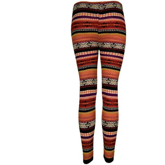 Multi Fairisle Print Leggings - Clothing - desireclothing.co.uk ❤ liked on Polyvore