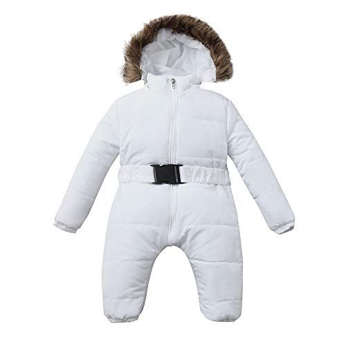 653af5290a32 baby snowsuit - Franterd Baby Girls Boys Romper Down Jacket Hooded Jumpsuit  Autumn   Winter Warm Thick Coat Onesie Snowsuit Clothes Atten…