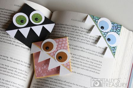Pretty sure I'm in the process of making these for my students! They have asked me for book marks and this is a cool craft they can do to make some monster book marks!: