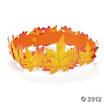 Fall Leaf Crown Craft Kit, Hats & Masks, Crafts for Kids, Craft & Hobby Supplies - Oriental Trading