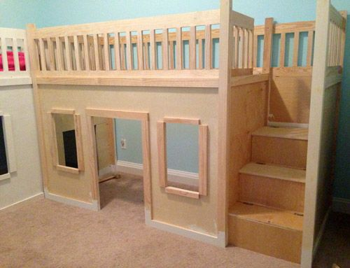 DIY Projects  Build a Playhouse Loft Bed for Your Child   Playhouse loft bed   Stylish eve and Playhouses. DIY Projects  Build a Playhouse Loft Bed for Your Child