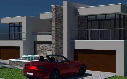 2 Storey House Design Modern House Plan 4 Car Garage House
