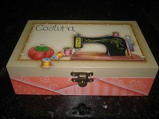 Artesanatos com S: Caixa de costura + porta chá + caixas diversas: