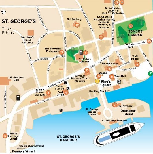 bermuda Map of St George Town Bermuda Beachin BERMUDA