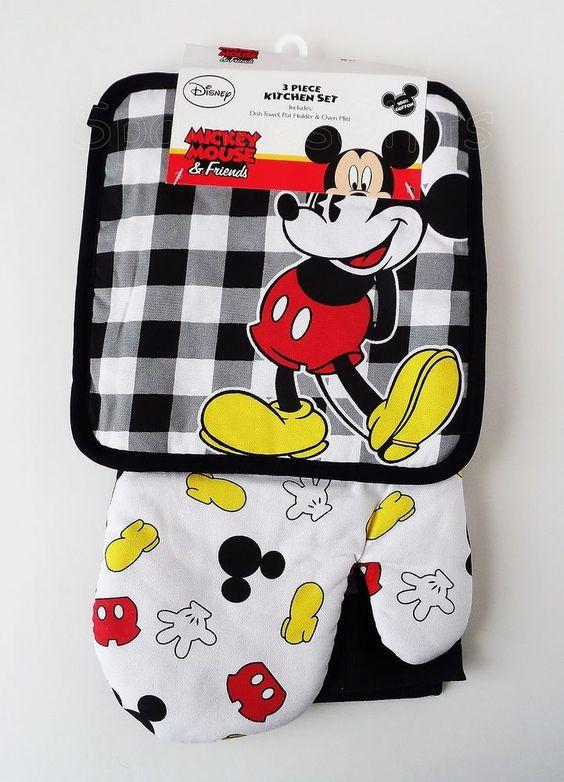 Mickey Mouse Parts 3 Piece Kitchen Set