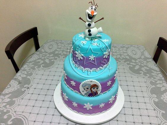 Bolo Decorado Frozen/Frozen Cake