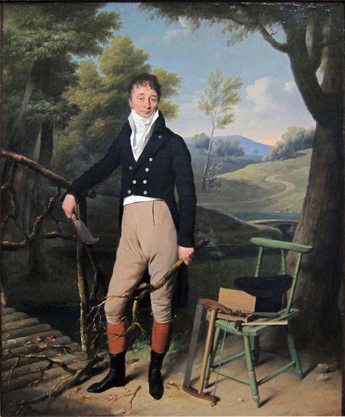 1800-1801 Louis-Leopold Boilly - Portrait of Charles d'Aucourt de Saint-Just