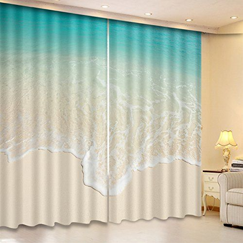 Lb Ocean Theme Window Curtains By Blackout Curtains For Bedroom