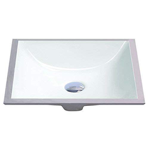 Geyser White Vitreous Porcelain Undermount Bathroom Sink 16 X 11