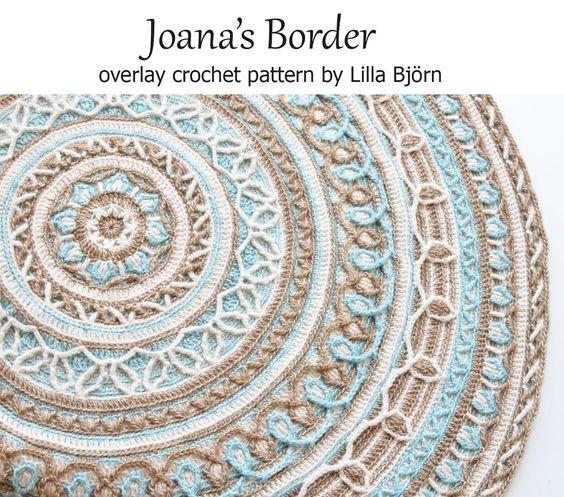 Joana 39 s mandala and border overlay crochet pattern for for Pattern overlay