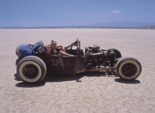 El Mirage Rat Rod Pin Up Photo by David Perry Fine Art Print