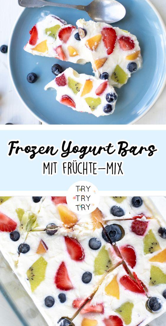 Frozen Yogurt Bars mit Früchten