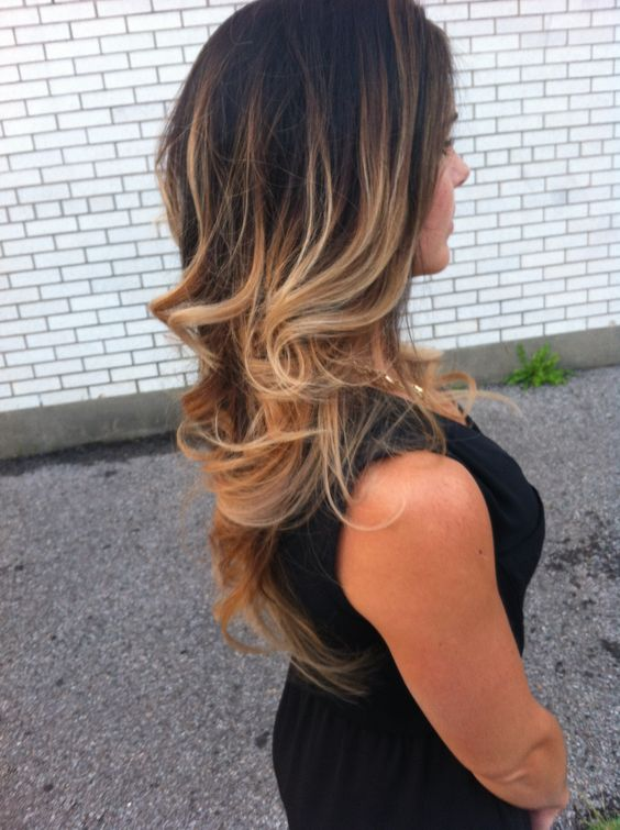 dark to light ombre  hair done by: marie deschesnes