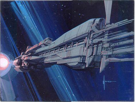 "Aliens (1986) - ""Sulaco"" warship concept art by Syd Mead"