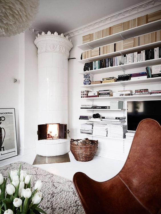 THE STORY BEHIND: THE TRADITIONAL SWEDISH TILE STOVE | style-files.com | Bloglovin':