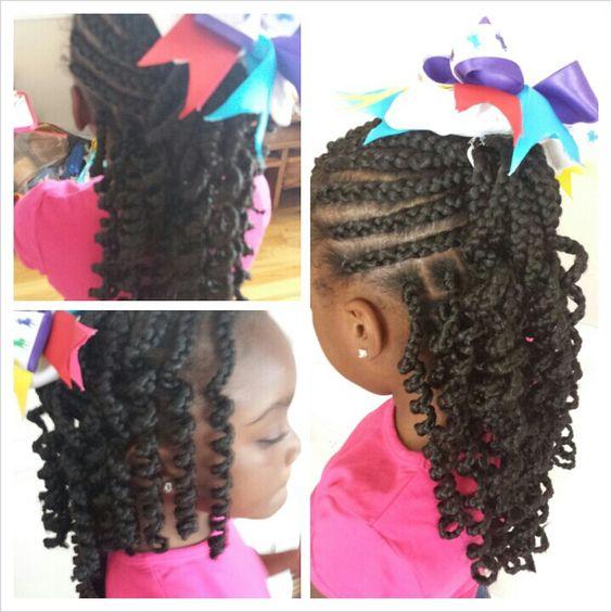 Fabulous Little Girl Braids Girls Braids And Little Girls On Pinterest Hairstyles For Men Maxibearus