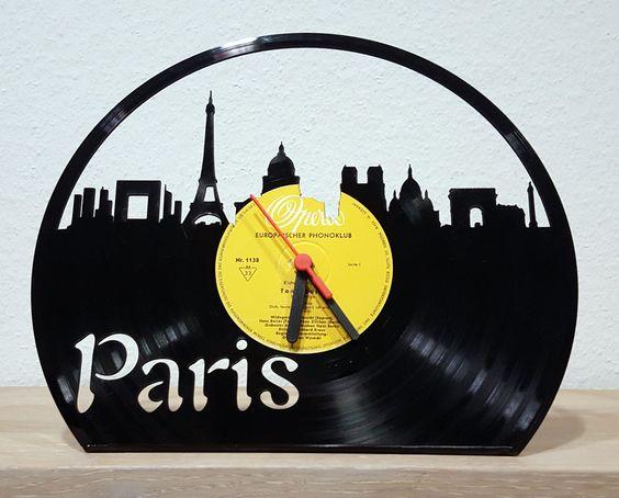 """Schallplatte """"Paris"""", lasercut, zum Hinstellen - aktueller Aktionspreis: 29,- EUR auf myLASERart-shop.de"""