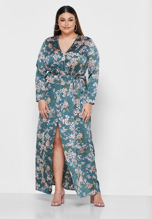 موديلات فساتين سواريه للتخان تشكيلة صور فساتين سهرة للتخان Fashion Wrap Dress Dresses