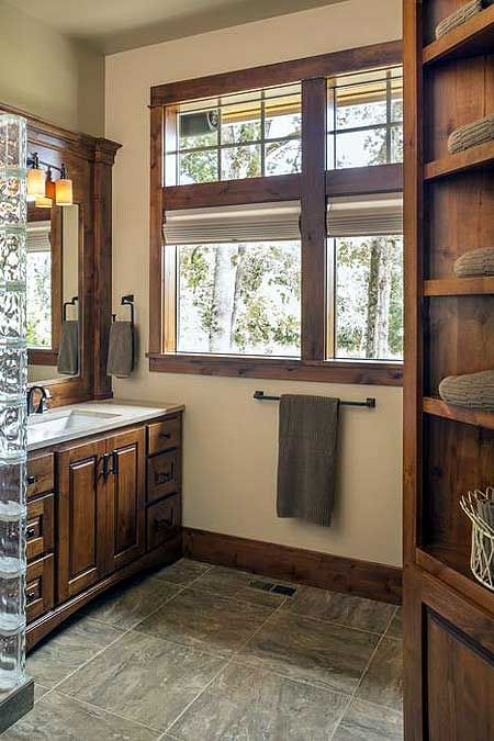 Bathroom Design With Wood Trim : Wood trim craftsman houses and window on