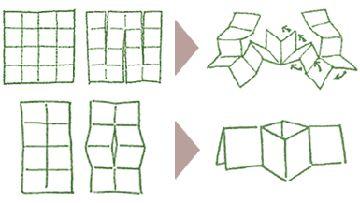single sheet cut and fold books