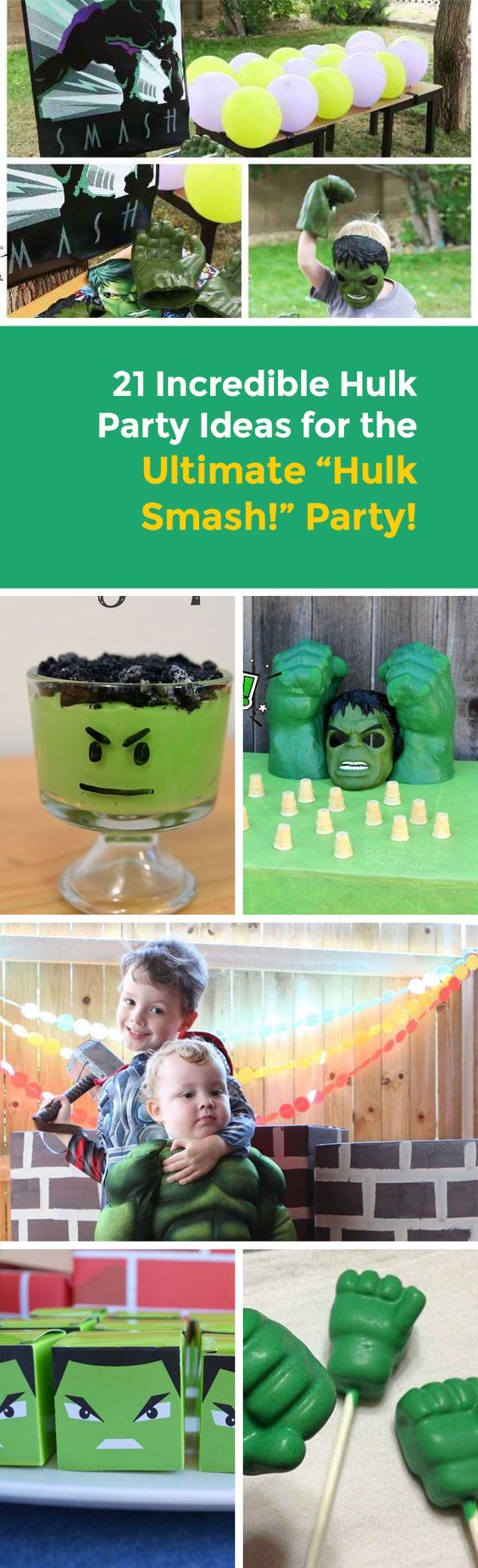 Want to know a smashing party inspired by one of the most favourite Marvel Comics characters? Check out these Incredible Hulk party ideas…