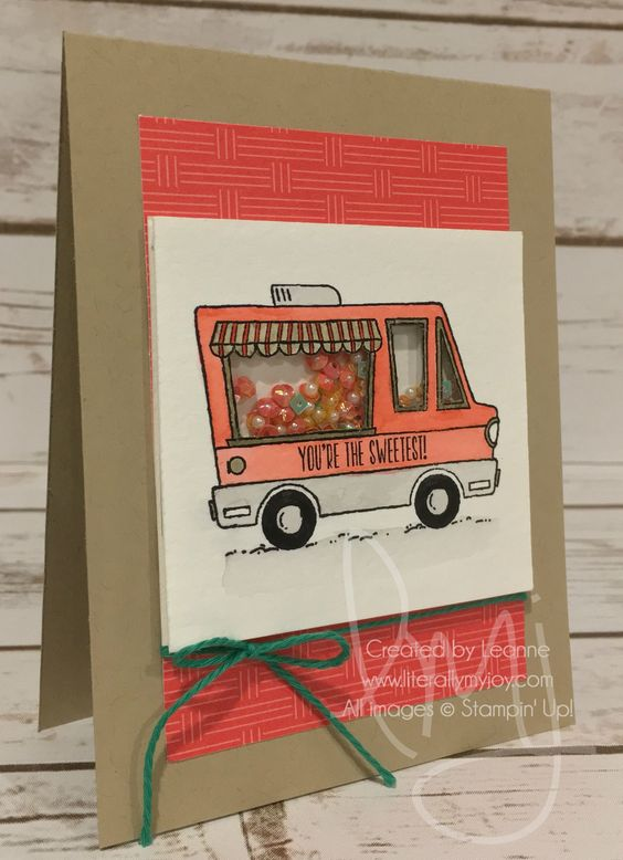 Sprinkles Shaker | Tasty Trucks | Carried Away DSP #literallymyjoy #sprinkles #truck #watercoloring #sweets #sweet #2017SaleABrationCatalog: