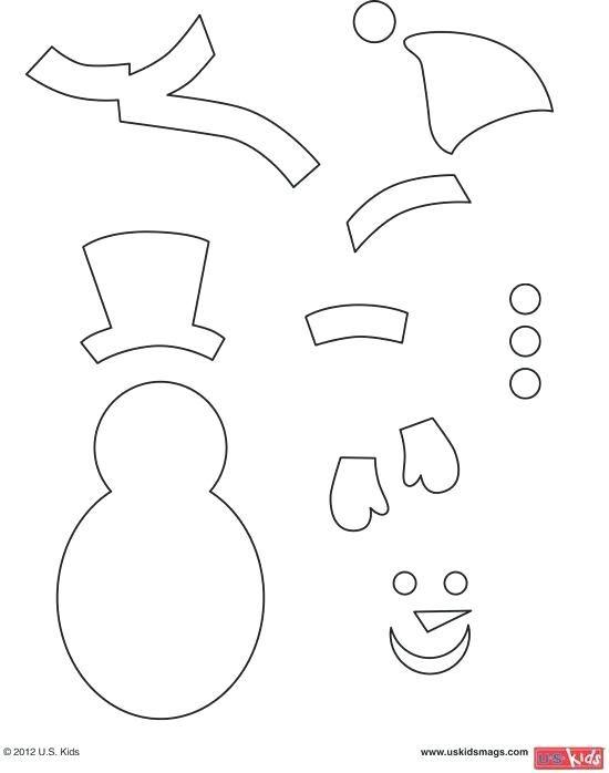 Large Snowman Template Printable Build A Printable Snowman Faces