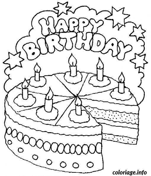 Coloriage Joyeux Anniversaire A Imprimer Gratuit Happy Birthday