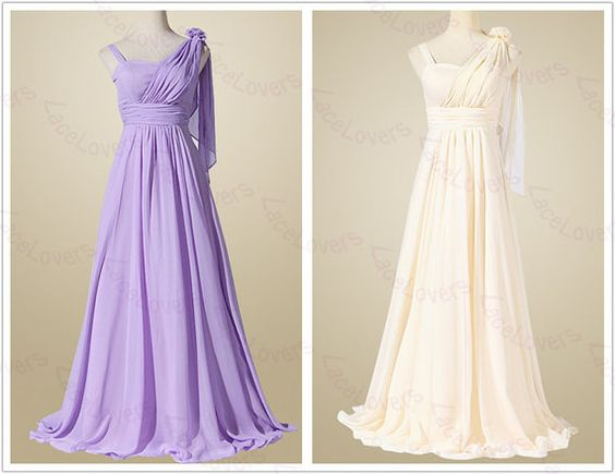 Chiffon Modest Elegant Plus Size Long Prom Gowns Evening Dress Party Dress Bridesmaid Dresses For Wedding Junior 2014 Formal Simple ll247 on Etsy, $122.00