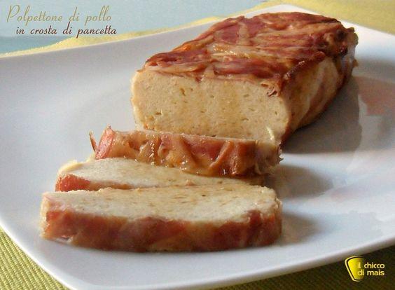 Come preparare il polpettone di pollo in crosta di pancetta. Ricetta del polpettone di pollo o tacchino con ricotta avvolto in fette di pancetta attotolata