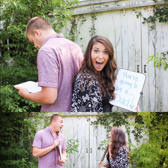 Announcing pregnancy to husband....absolutely love this