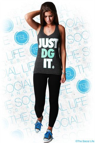 This athletic performance racerback is a perfect item for DG's who want to look awesome and rep their house while they workout. Get fit in style! My #TSL Dream Recruitment Closet