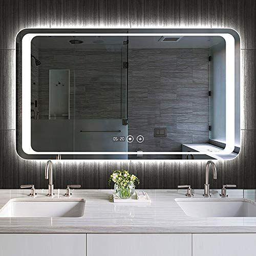 Led Illuminated Bathroom Mirror Wall, Defog Bathroom Mirror
