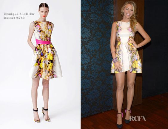 Blake Lively In Monique Lhuillier - Backstage At The Charlie Rose Show