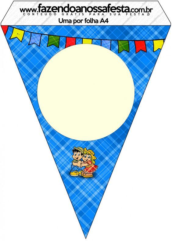 Bandeirinha Varalzinho Festa Junina::