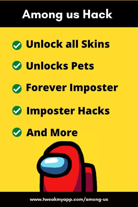 Among Us Hack 2020 Get Premium Skins Pets Imposter Hack For Free In 2021 Imposter Download Hacks More Words