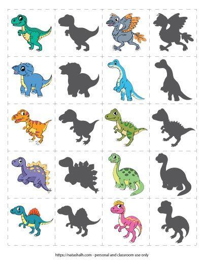 Free Printable Dinosaur Matching Game For Your Dino Loving Child Dinosaur Games Preschool Dinosaur Games Toddler Party Games Preschool dinosaur matching worksheet