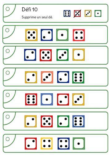 Avec Les Des Atteindre 10 Ou 20 Math Gs Jeux Maths Ce1 Et