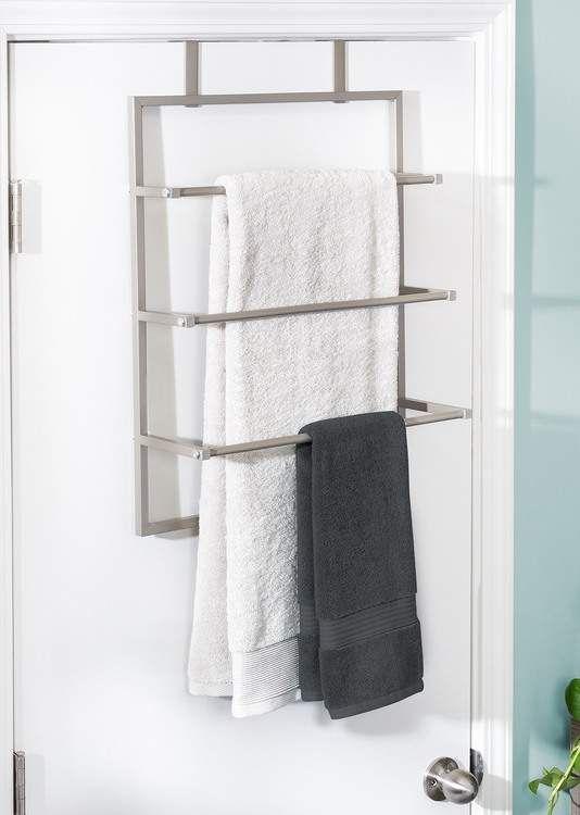Honey Can Do Nickel Over The Door 3 Tier Towel Rack Nordstrom Rack In 2020 Towel Rack Towel Storage Over Door Towel Rack